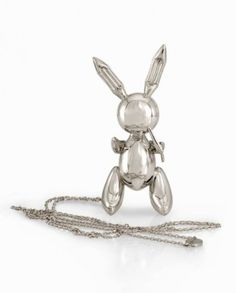 Jeff Koons Rabbit necklace - Diane Venet collection