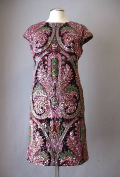 1960s Bead Encrusted Dress at Couture Allure