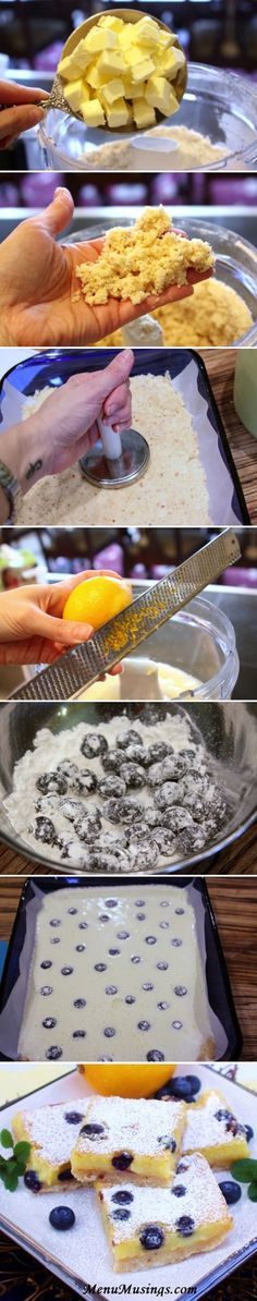 Blueberry & Coconut Lemon Bars | Recipe By Photo