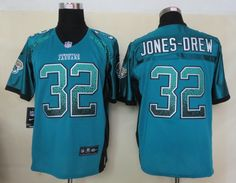 Jacksonville Jaguars #32 Jones-Drew Drift Fashion Green Elite Jerseys