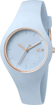 Ice Watch Ice-Glam Pastel ICE.GL.LO.S.S.14, Ice Watch Pastelblauw Horloge, maat Small Voor dames