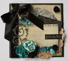 Just for you *Swirlydoos Kit club* - Scrapbook.comThis is CARD size. Imagine it as 12x12 with exquisite photo in the center