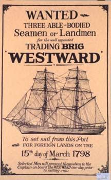 Westward Nautical Poster
