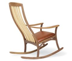 Thetford Hill Rocker. From Pompanoosuc Mills. American hardwood furniture. Hand crafted in Vermont.