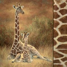 This counted cross stitch pattern of Mother and Son Giraffes was created from the beautiful artwork of Lucie Bilodeau. Description from crosstitch.com. I searched for this on bing.com/images