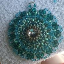 Ciondolo Perline, Beading Pendant, bead embroidery - by machegioia®