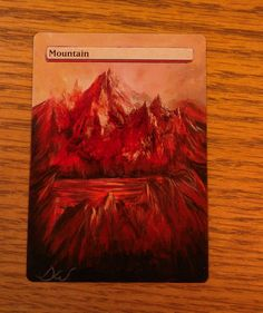 MTG altered art basic mountain from magic the gathering by WallqvistStudio on Etsy