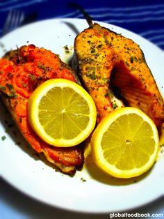 NICE Oven Smoked Salmon With Lemon And Honey Sauce