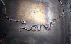 Pick a word or name to be formed in sterling silver