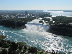 See the impressive beauty of #NiagaraFalls from a #helicopter.