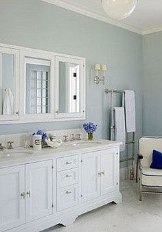 Remodelaholic | Best Paint Colors For Your Home: LIGHT BLUES | Bathroom  Inspirations | Pinterest | Benjamin Moore, Wall Colors And Color Paints