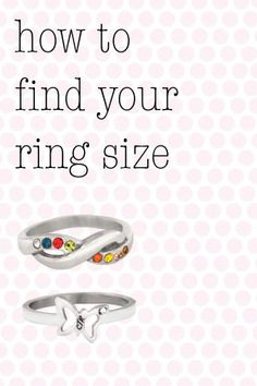 easy FREE pdf on how to find your ring size!