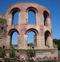 Ruines des Bains Romains à Trèves en Allemagne