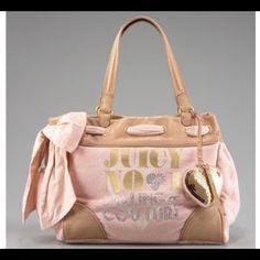 Juicy Couture Daydream Handbag Pink and Gold Juicy Couture Daydream Velour Tote Handbag Juicy Couture Bags Totes