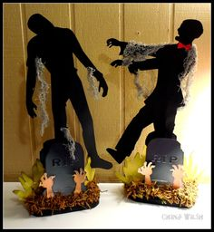 Zombie Centerpieces by AliZaisFavorsThings on Etsy, $16.50