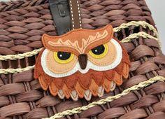 Owl Keychain Plush / Keyring / Bag Charm / by CreaturesInStitches, £17.00