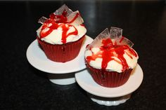 a million dresses | UK Fashion and Lifestyle Blog: Sunday Sweets #4 Red Velvet Dexter Style Halloween Cupcakes