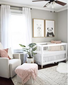 20 Baby Girl Room Ideas (The Cutest Overload) Baby nursery ideas √ 27 Cute Baby Room Ideas: Nursery Decor for Boy, Girl and Unisex 📷 shared by Baby Room Design, Nursery Design, Design Bedroom, Baby Nursery Decor, Baby Decor, Themed Nursery, Nursery Gray, Bedroom Decor, Simple Baby Nursery