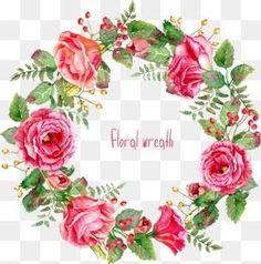мультфильм росписью Красивые розы венок границы