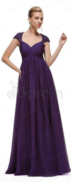 Maternity Bridesmaid Dresses long, pregnant bridesmaid dresses, eggplant bridesmaid dresses, Bridesmaid gown with cap sleeves,bridesmaid dresses with empire waist