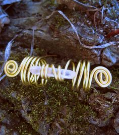 Crystal Quartz Dreadlock Ring - Dreadlock Accessories - Dreadlock Jewelry - RESERVED for Suzanna