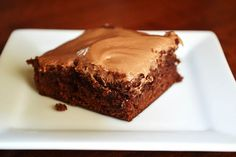 Nutella Brownies - made with a box brownie mix so super easy.  I need to try these!