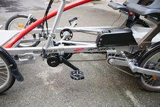 Bafang-Motor und Rahmenakku Seitenansicht 4 Wheel Bicycle, Bike, Baby Strollers, Tandem Bicycle, Bicycle, Baby Prams, Bicycles, Prams, Strollers