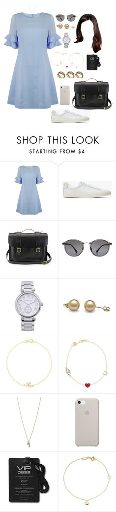 """BELG (all day/work)"" by ittgirl ❤ liked on Polyvore featuring Jovonna, Veja, Dr. Martens, Ray-Ban, MICHAEL Michael Kors, Jennifer Meyer Jewelry, Alison Lou, Minor Obsessions, Estella Bartlett and ASOS"