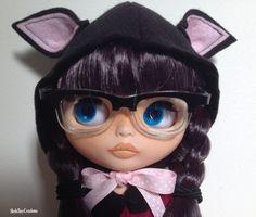 Blythe Animal Hat Hood Head wear  Azone Pure by ShelsTinyCreations