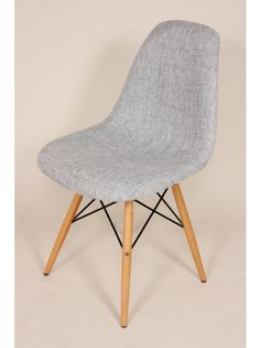 The Ann Side Chair Grey/ Wood