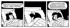 Buenas noches mundo/ Mafalda.