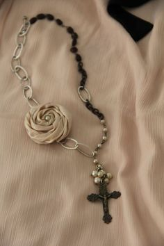 different look for the rosary necklace.