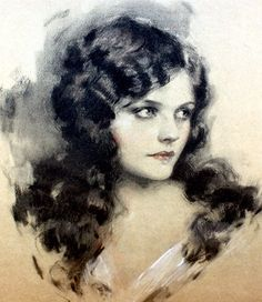 'Naomi Johnson' | 1920's | by John Knowles Hare | pastel on illustration board | Ziegfeld Follies Promotional Material.
