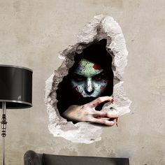 Halloween Scary Bloody Broken Wall Sticker Horror Ghost Decoration Sticker Home Decor Mural Festival Party Supplies Halloween Tags, Happy Halloween, Wall Stickers Halloween, Cheap Wall Stickers, Halloween Home Decor, Wall Stickers Home Decor, Wall Stickers Murals, Halloween House, Scary Halloween