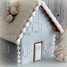 2014 winter gingerbread house |~Cookie Crumbs~クッキー・クラムズのアイシングクッキー