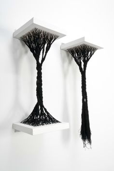 Sonya Clark's Rooted and Uprooted, made of canvas and thread (2011)
