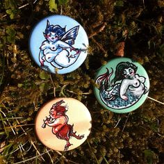 Fae Fatties Button Trio shipping included by changelingscloset