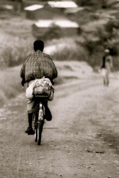 Guiding us to a village in Lelongwa, Malawi