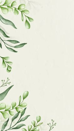 Download premium vector of Green leaves background decoration mobile phone wallpaper vector by Noon about green watercolor  background, watercolor mobile phone wallpaper, aesthetic, background, and beautiful 2032829