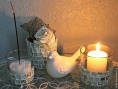 Декорируем стеклянные подсвечники мозаикой - Ярмарка Мастеров - ручная работа, handmade