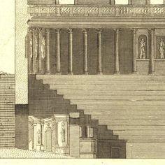 Architectural Engraving Teatro Olimpico de Vicenza at carambas, $120.00
