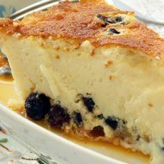 Torta de Ricota com Uva Passa