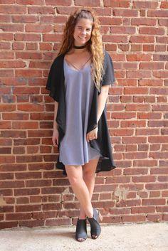 Dressed To Impress Dress- Dusty Blue