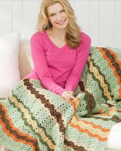 Best Free Crochet » Free Ripple Throwback Crochet Pattern from RedHeart.com