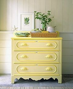 just LOOKS so fresh. Judy, I think you HAVE to paint a dresser yellow!