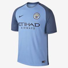 12ae440b33 2016 17 Manchester City FC Stadium Home Men s Soccer Jersey Manchester  City