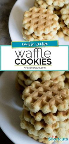 Grandma's Waffle Cookies Recipe One of my favorite Christmas Cookies. The kids love to help make this simple Waffle Cookies Recipe! They are perfect for cookie exchanges and for gifts! Mini Desserts, Christmas Desserts, Christmas Baking, Christmas Cookies, Christmas Recipes, Christmas Parties, Holiday Foods, Christmas Treats, Waffle Desserts