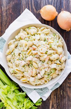 Do you want to be the most popular person at the picnic? Then make my Grandma's Very Best Shrimp Macaroni Salad! Meaty chunks of shrimp, cri. Shrimp Recipes For Dinner, Shrimp Recipes Easy, Pasta Salad Recipes, Seafood Recipes, Cold Shrimp Salad Recipes, Seafood Meals, Seafood Salad, Shrimp Macaroni Salad, Best Macaroni Salad