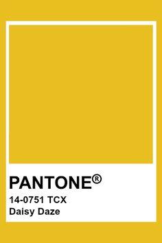 PANTONE 14-0751 TCX Daisy Daze #pantone #color #yellow Paleta Pantone, Pantone Tcx, Pantone Swatches, Paint Swatches, Color Swatches, Pantone 2020, Pantone Color Chart, Pantone Colour Palettes, Pantone Colours