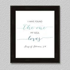 I have found the one my soul loves printable